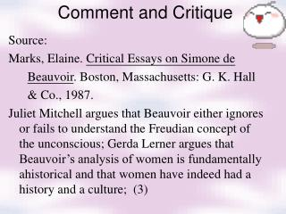 Comment and Critique