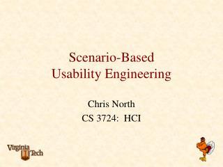 Scenario-Based  Usability Engineering
