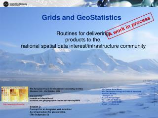 Grids and GeoStatistics