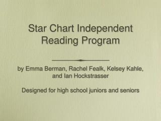 Star Chart Independent Reading Program