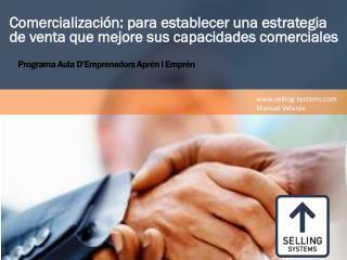 Comercialización : para establecer una estrategia de venta que mejore sus capacidades comerciales