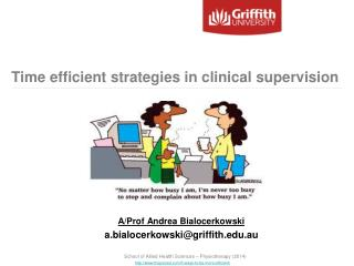 Time efficient strategies in clinical supervision