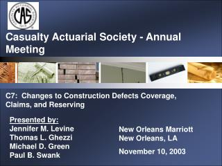 Casualty Actuarial Society - Annual Meeting