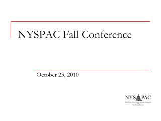NYSPAC Fall Conference