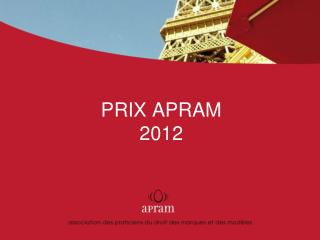 PRIX APRAM  2012