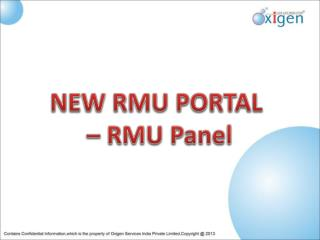 NEW RMU PORTAL  – RMU Panel