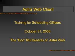 Astra Web Client