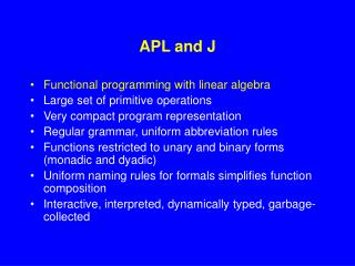 APL and J