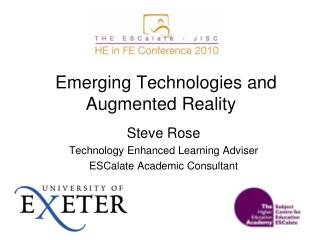 Emerging Technologies and Augmented Reality