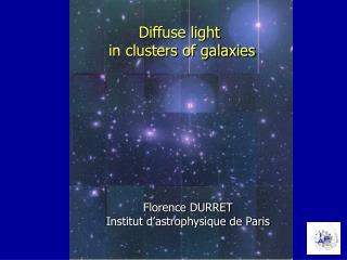 Diffuse light  in clusters of galaxies