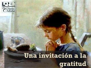 Una invitación a la gratitud