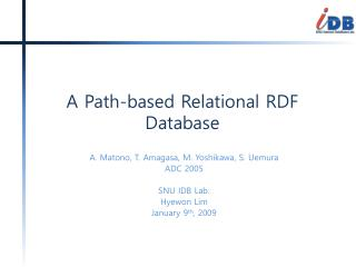 A Path-based Relational RDF Database