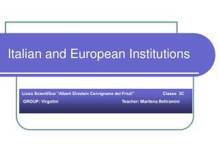 Italian and European Institutions
