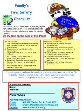 Kid�s Checklist