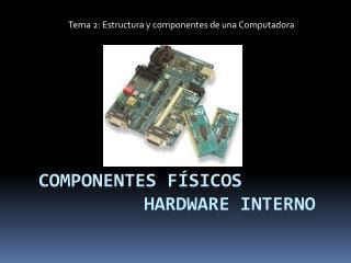 Componentes físicos hardware INTERNO