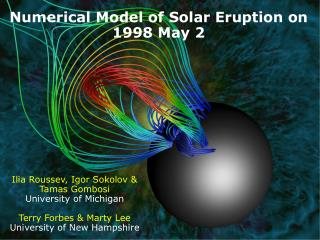 Numerical Model of Solar Eruption on 1998 May 2
