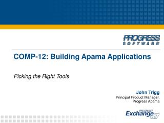 COMP-12: Building Apama Applications