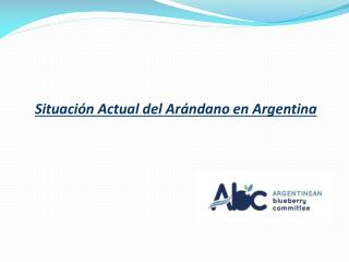 Situación  Actual del  Arándano  en Argentina