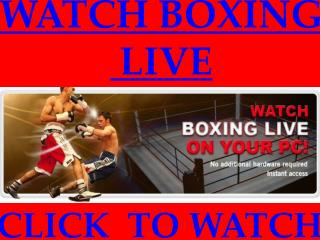 Hopkins vs Pascal Live Streaming Boxing Sopcast Broadcast TV