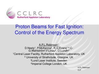 Proton Beams for Fast Ignition: Control of the Energy Spectrum