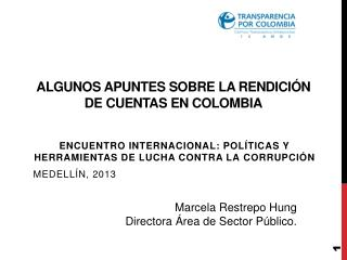 Algunos apuntes sobre la Rendición de Cuentas en Colombia