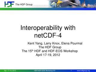 Interoperability with netCDF-4