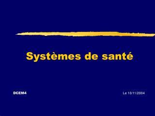 Systèmes de santé