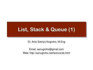 List, Stack & Queue (1)