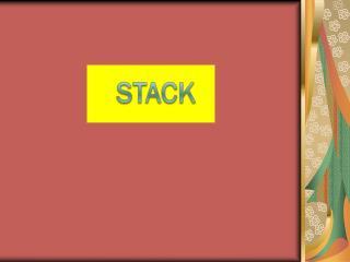 Apakah Stack itu ?