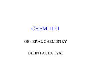 CHEM 1151