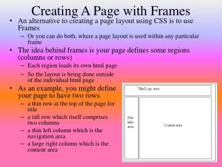Creating A Page with Frames