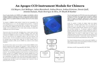An Apogee CCD Instrument Module for Chimera