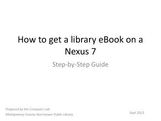 How to get a library eBook on a Nexus 7