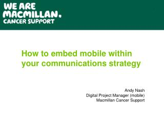 How to embed mobile within your communications strategy