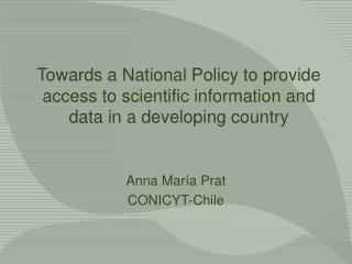 Anna María Prat CONICYT-Chile