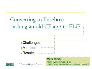 Converting to Fusebox:   asking an old CF app to FLiP *