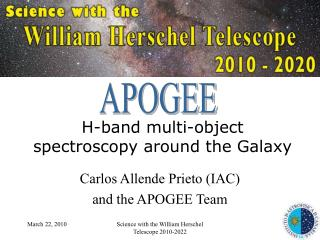 H-band multi-object spectroscopy around the Galaxy
