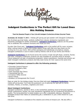 Indulgent Confections is The Perfect Gift for Loved Ones thi