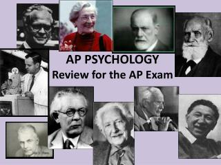 AP PSYCHOLOGY Review for the AP Exam
