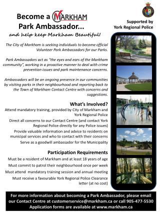 Become a Park Ambassador...
