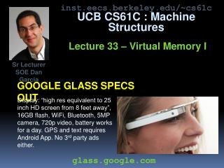 Google glass specs out
