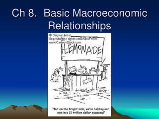 Ch 8.Basic Macroeconomic Relationships