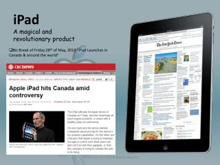 iPad A magical and revolutionary product