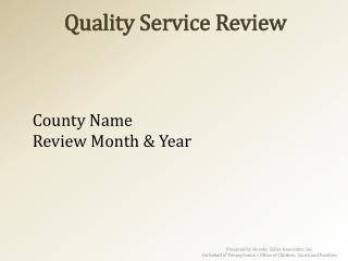 Quality Service Review