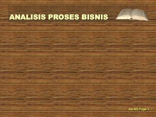 ALAT UKUR PROSES BISNIS.
