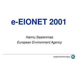 e-EIONET 2001