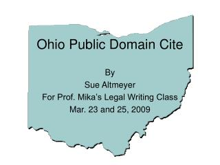 Ohio Public Domain Cite