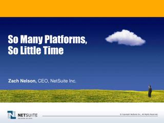 So Many Platforms, So Little Time