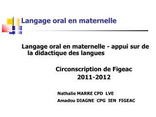 Langage oral en maternelle