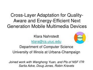 Klara Nahrstedt klara@cs.uiuc Department of Computer Science
